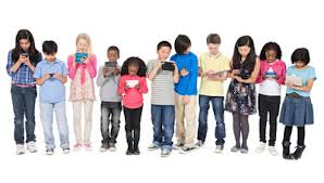 Many Children Looking at Personal Screens